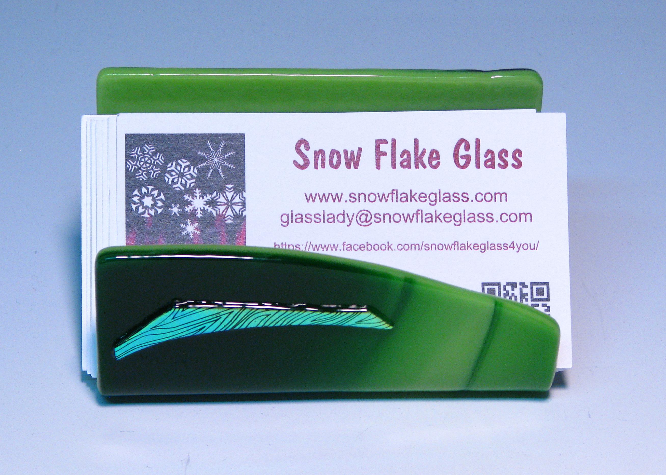 Snow Flake Glass Desk Accessories